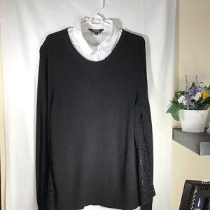 Simply Vera Vera Wang Layered Look Sweater Size XL